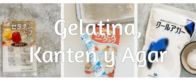 Diferencias entre kanten, agar y gelatina